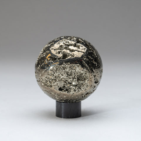 "Polished Pyrite Sphere from Peru (3"", 2 lbs)"