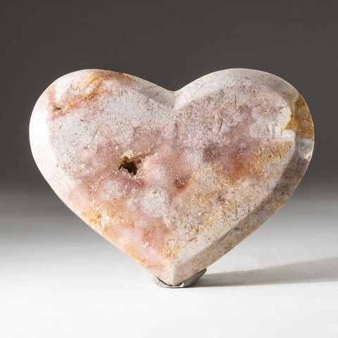 Genuine Polished Pink Amethyst Heart (2.2 lbs)