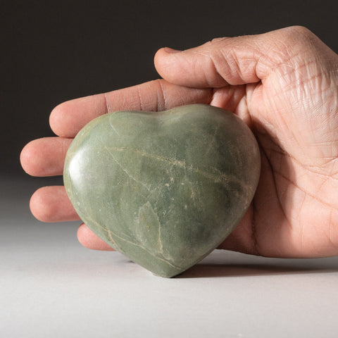 Genuine Polished Serpentine Heart (308.6 grams)