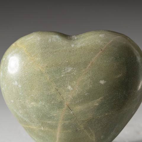 Genuine Polished Serpentine Heart (225.5 grams)