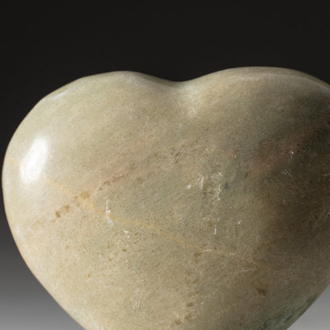 Genuine Polished Serpentine Heart (269.8 grams)
