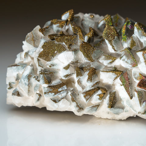 Chalcopyrite over Calcite from Edong Mining District, Daye, Hubei, China