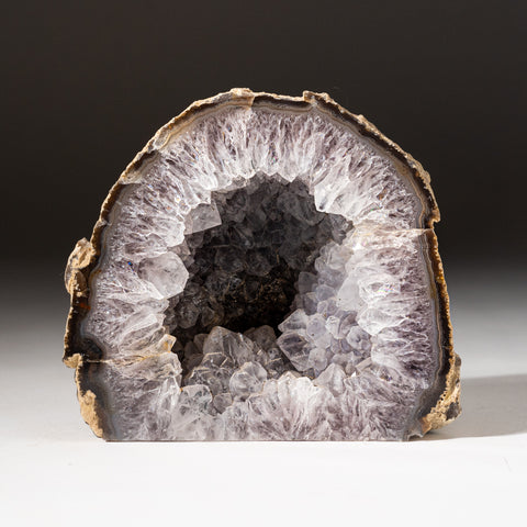 Banded Agate Smoky Geode From Brazil (2.8 lbs)