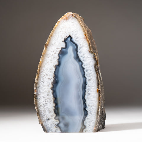 Blue Banded Agate Freeform From Brazil (2.6 lbs)
