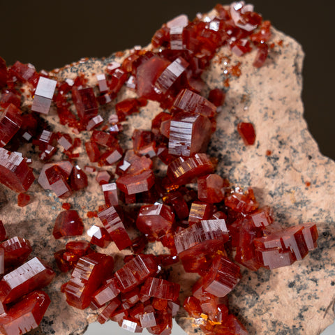 Vanadinite on matrix From Mibladen, Atlas Mountains, Khénifra Province, Morocco