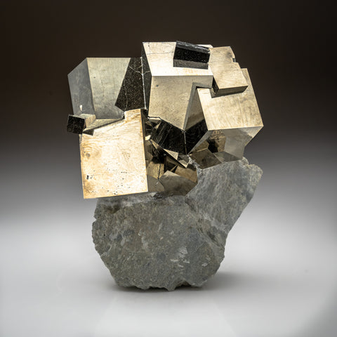 Pyrite Cluster on Basalt From Navajun, Spain