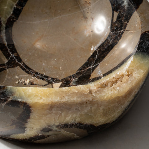 Polished Septarian Dish from Madagascar (2.4 lbs)