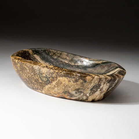 Genuine Polished Poppy Jasper Bowl (2.2 lbs)