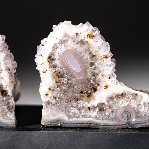 Natural Agate Slices on Wooden Stand (1.8 lbs)