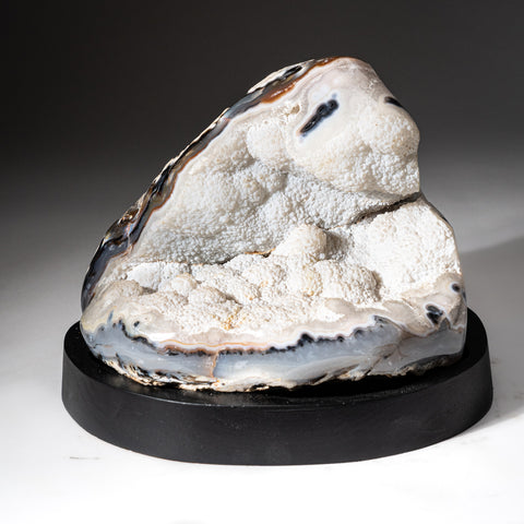 Natural Agate Geode on Wooden Stand (10 lbs)