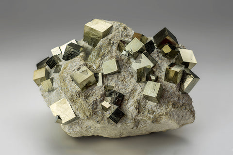 Pyrite on Basalt From Victoria Mine, Navajún, La Rioja, Spain