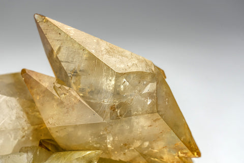 Twinned Golden Calcite Crystal from Elmwood Mine, Tennessee