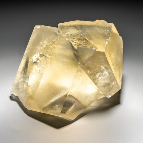 Twinned Golden Calcite From Nasik District, Maharashtra, India