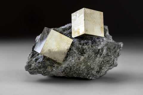 Pyrite Cube on Basalt From Navajun, Spain