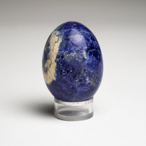Polished Sodalite Egg from Brazil (103.3 grams)