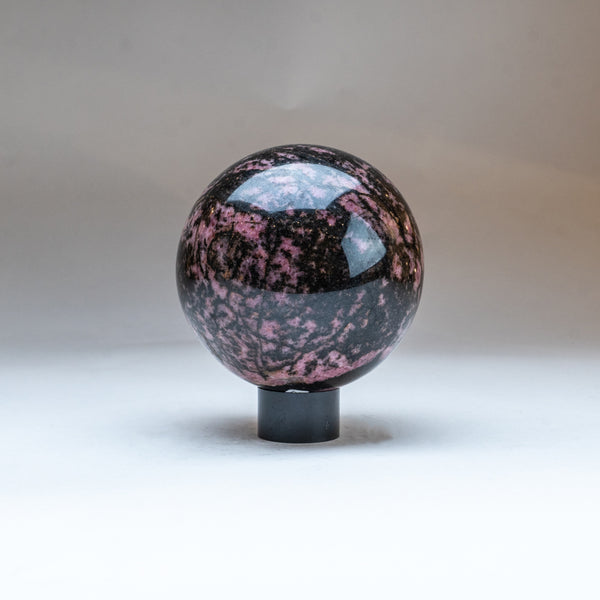 Polished Imperial Rhodonite Sphere from Madagascar (2.5 lbs)