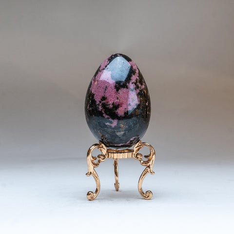 Polished Imperial Rhodonite Egg from Madagascar (1 lbs)