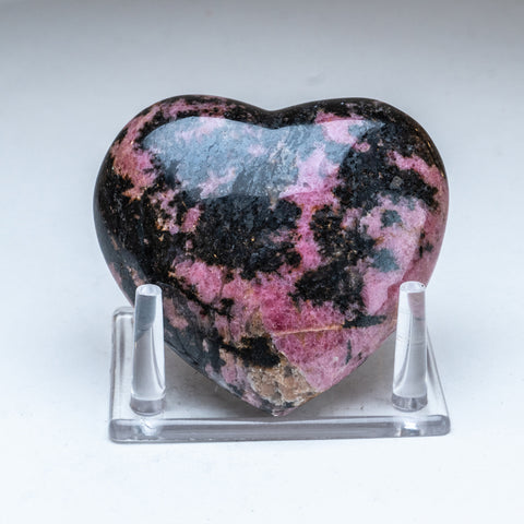 Polished Imperial Rhodonite Heart from Madagascar (1 lbs)