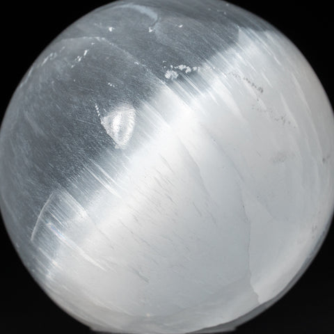 Genuine Natural Cats Eye Selenite Sphere - Small (2.5'', 258.6 grams)