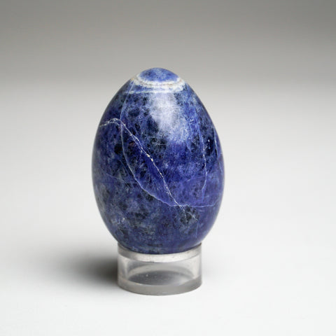 Polished Sodalite Egg from Brazil (107.6 grams)