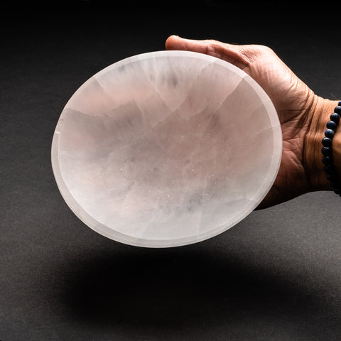 Genuine Natural Selenite Bowl (1.4 lbs)