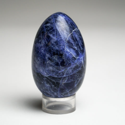 Polished Sodalite Egg from Brazil (133 grams)