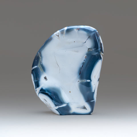 Blue Chalcedony Orca Stone Flame Freeform (3 lbs)