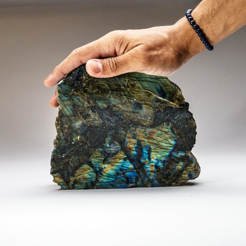 Polished Labradorite Freeform from Madagascar (7 lbs)