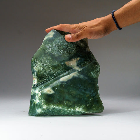 Polished Green Jade Freeform from Pakistan (13 lbs)
