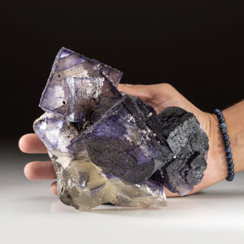 Purple Fluorite from Elmwood Mine, Carthage, Smith County, Tennessee (3.8 lbs)
