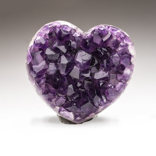 Amethyst Cluster Heart from Brazil (314.3 grams)