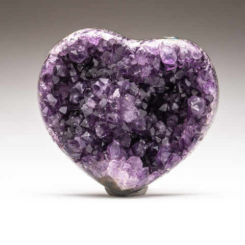 Amethyst Cluster Heart from Brazil (292.2 grams)