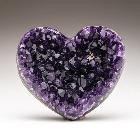 Amethyst Cluster Heart from Brazil(463.5 grams)