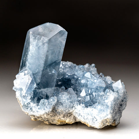 Blue Celestite crystals From Sankoany, Ketsepy, Madagascar