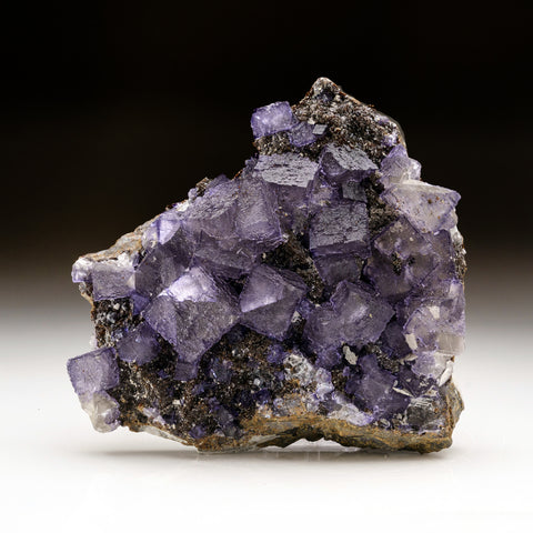 Purple Fluorite with Sphalerite from Elmwood Mine, Carthage, Smith County, Tennessee