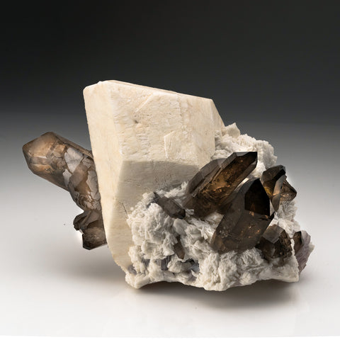 Smoky Quartz with Microcline from, Gilgit-Baltistan, Pakistan