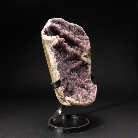 Genuine Amethyst Cluster on Metal Stand (17.4 lbs)