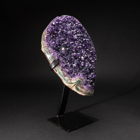 Genuine Amethyst Cluster on Metal Stand (32.2 lbs)