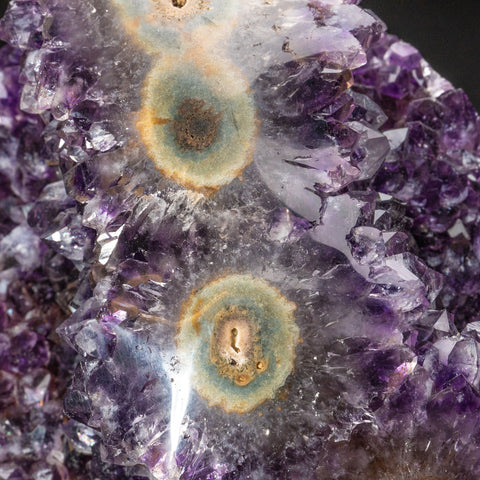 Genuine Amethyst Cluster on Metal Stand (17 lbs)