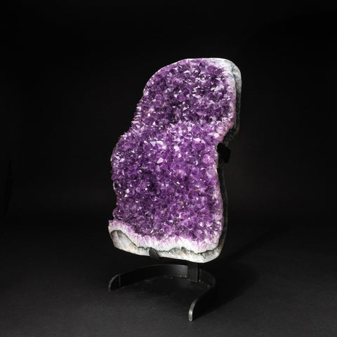 Genuine Amethyst Cluster on Metal Stand (43 lbs)