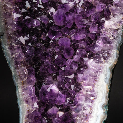 Genuine Amethyst Cluster on Metal Stand (36.8 lbs)