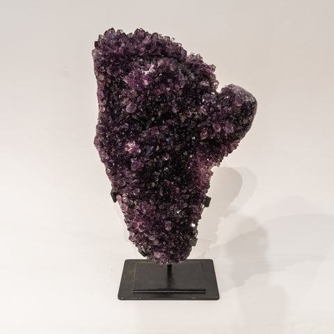 Genuine Amethyst Cluster on Metal Stand (22 lbs)