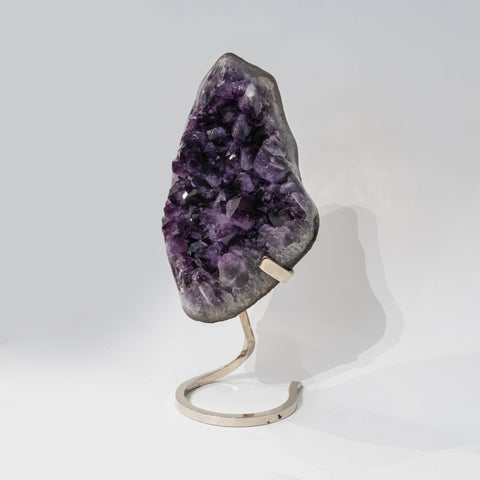 Genuine Amethyst Cluster on Metal Stand (20 lbs)