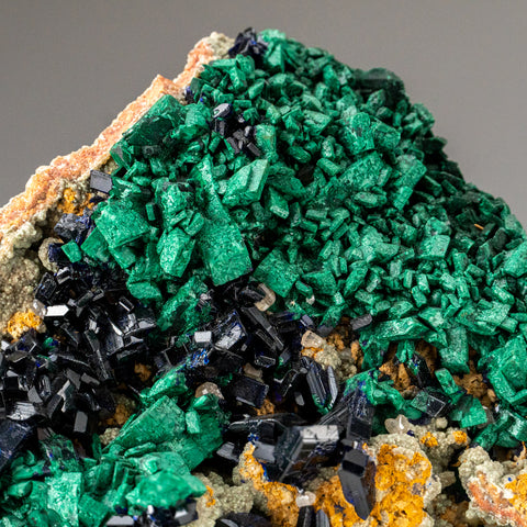 Azurite wih Malachite from Tsumeb Mine, Otavi-Bergland District, Oshikoto, Namibia
