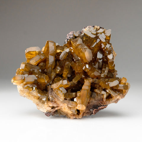 Golden Barite Crystals from Nandan County, Hechi, Guangxi, China