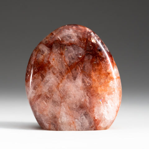Polished Strawberry Quartz Freeform from Madagascar (1.2 lbs)