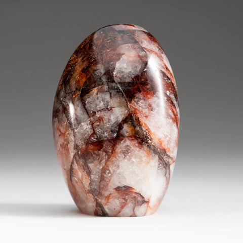 Polished Strawberry Quartz Freeform from Madagascar (1.6 lbs)