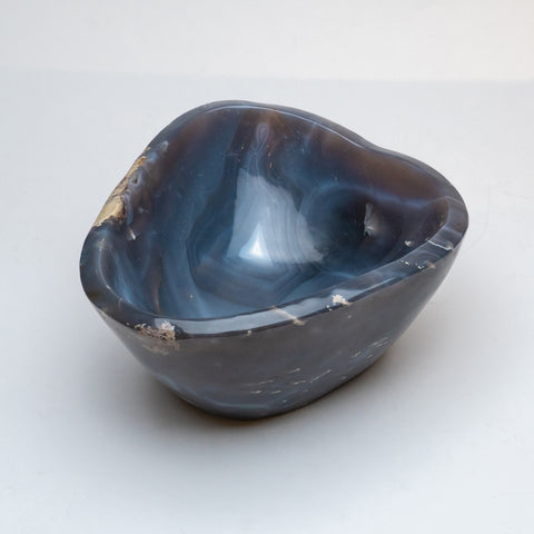 Polished Banded Agate Bowl From Brazil (17 lbs)
