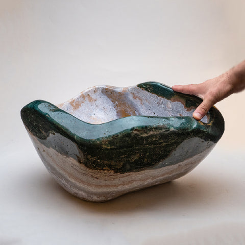 Polished Ocean Jasper Large Bowl (79.6 lbs)