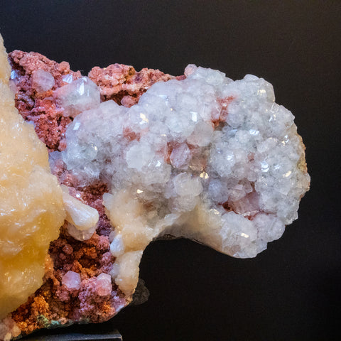 Stilbite with Apophyllite and Quartz From Pashan Hill Quarry, Pune District, Maharashtra, India